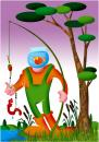 Cartoon: Mauvaise peche... (small) by Erby tagged nature