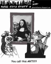 Cartoon: You call this art? (small) by optimystical tagged art,mona,lisa,picasso,modern,critic,protest,painting,judgment