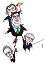 Cartoon: Crisis at Stormont (small) by barker tagged gordon,brown,brian,cowen,martin,mcguinness,peter,robinson,northern,ireland,cartoon,caricature