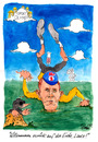 Cartoon: Absturz eines Radgottes (small) by Mario Schuster tagged karikatur,cartoon,mario,schuster,lance,armstrong