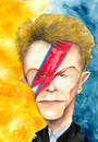 Cartoon: David Bowie (small) by Mario Schuster tagged david,bowie,karikatur,cartoon,mario,schuster