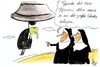 Cartoon: Relegion (small) by Mario Schuster tagged relegion,mario,schuster,pfarrer,nonne