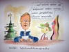Cartoon: Wulffs Weihnachtsansprache (small) by Mario Schuster tagged karikatur,cartoon,wulff,mario,schuster