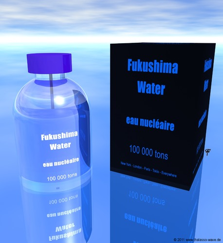 Cartoon: Eau Nucleaire (medium) by thalasso tagged nuclear,disaster,atom,energy,japan,fukushima,environment,perfume,fragrance