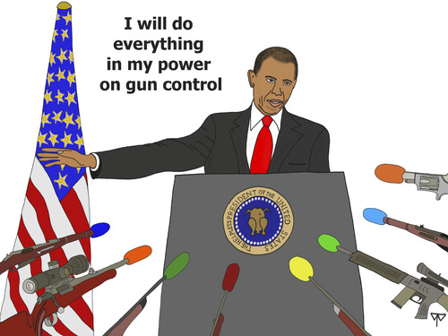 Cartoon: gun control (medium) by thalasso tagged obama,gun,control,nra,rifle,guns,shooting,rampage,newtown,massacre