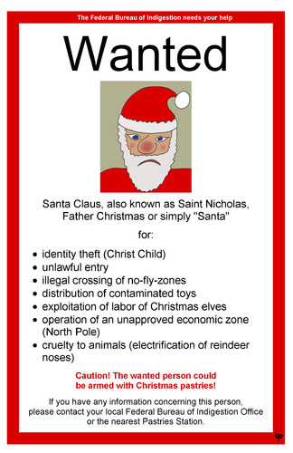 Cartoon: identity theft (medium) by thalasso tagged santa,claus,nicholas,weihnachtsmann,father,christmas,holy