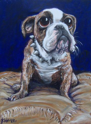 Cartoon: Oliver Bulldog (medium) by karlwimer tagged bulldog,painting,dog