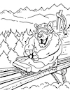 Cartoon: Adaptive Spirit Coloring Book 6 (small) by karlwimer tagged bear,ski,snowboard,alpine,slide,paralympic,luge,toboggan,vail,mountains,snow,winter