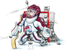 Cartoon: Avalanche Season Woes (small) by karlwimer tagged hockey,avalanche,colorado,avs,winter,sports,goalie,goal,pucks