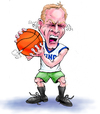 Cartoon: Dick Monfort Basketball Steam (small) by karlwimer tagged basketball sports fan anger