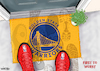 Cartoon: Golden State NBA Doormat (small) by karlwimer tagged nba,basketball,golden,state,warriors,doormat,competition