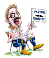 Cartoon: Paxton Pronto (small) by karlwimer tagged broncos,fans,spectators,denver,football,paxton,lynch