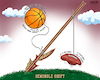 Cartoon: Seminole Sports Shift (small) by karlwimer tagged sports,american,football,college,florida,state,university,seminoles,basketball