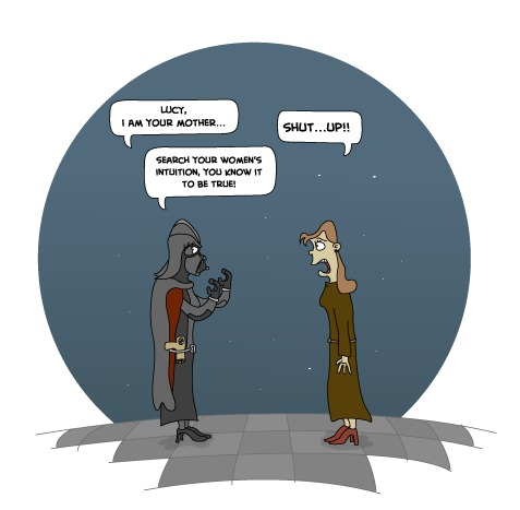 Cartoon: Female Wars (medium) by Jason Cowling tagged humour,vector,digital,starwars