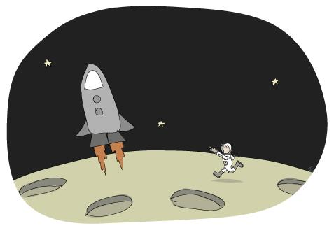 Cartoon: Lift off (medium) by Jason Cowling tagged vector,digital,humour,moon,space