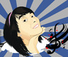 Cartoon: girl vector (small) by teukudq tagged fads