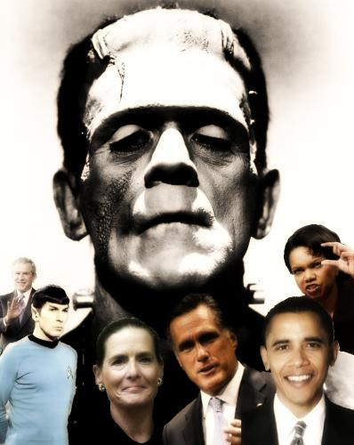 Cartoon: Frankenstein Family Portrait (medium) by Tzod Earf tagged caricature,photo,manipulation
