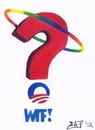 Cartoon: Ask Obama WTF (small) by Tzod Earf tagged rainbow,obama,logo,gay,lesbian,homosexual,marriage,election,query
