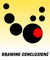 Cartoon: Drawing Conclusions (small) by Tzod Earf tagged period,conclusion,minimalism,red,black,yellow,white,visual,metaphor,justin,bieber