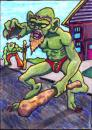 Cartoon: Flash from Mergatroid (small) by Tzod Earf tagged troll,orc,monster,art,trading,card