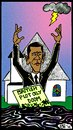 Cartoon: Touchdown Obama (small) by Tzod Earf tagged president,barack,obama,bp,cartoon,touchdown,jesus,monroe,ohio