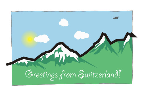 Cartoon: Greetings from Switzerland! (medium) by Ballner tagged chf