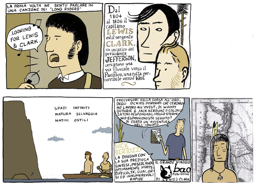 Cartoon: lewis and clark (medium) by marco petrella tagged comix