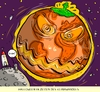Cartoon: halloween und klimawandel (small) by leopold maurer tagged klimawandel,halloween,erderwärmung,klima,umweltverschmutzung,erwärmung,kürbis,erdkugel