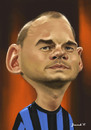 Cartoon: Wesley Sneijder (small) by Jiwenk tagged wesley,sneijder