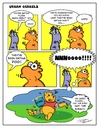 Cartoon: Urban gerbils.Flies! (small) by Danno tagged comic,strip,cartoon,humor,traditional,mixed,media
