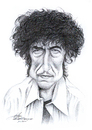 Cartoon: Bob Dylan (small) by Stefan Kahlhammer tagged bob dylan karikatur kahlhammer bleistift zeichnung drawing pencil flankale flankalan caricature