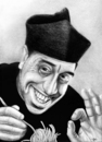 Cartoon: Don Camillo loves Pasta (small) by Stefan Kahlhammer tagged pitch pizza spaghetti pizzapitch camillo don fernandel kahlhammer karikatur flankale flankalan caricature