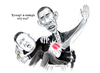 Cartoon: Enough is enough (small) by Stefan Kahlhammer tagged obama,jongun,jong,un,kim,barack,usa,korea,amerika,america,corea,north,nord,arsch,popo,nuclear,streit,klatsch,krieg,diktator,dictator,war,enough,genug,rakete,kahlhammer,bloed,gewalt,konflikt,caricature,karikatur,ironie,satire