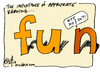 Cartoon: appropriate kerning... (small) by ericHews tagged fun,eff,you,kern,typography,design