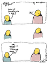 Cartoon: something i did - by eric Hews (small) by ericHews tagged man,woman,argument,conundrum