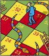 Cartoon: The Ageing Game (small) by Ellis Nadler tagged snakes,ladders,board,game,numbers,age,52