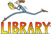 Cartoon: The Librarian (small) by Ellis Nadler tagged library,book,reader,runner,run,read,smile,man,sign