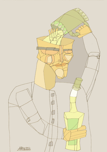 Cartoon: Addiction (medium) by omar seddek mostafa tagged addiction