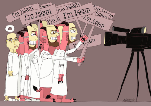 Cartoon: Islam (medium) by omar seddek mostafa tagged islam