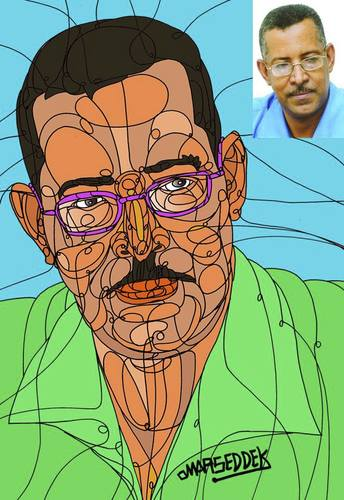 Cartoon: Journalist Magdi Bakri (medium) by omar seddek mostafa tagged journalist,magdi,bakri