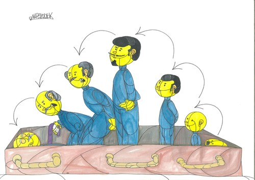 Cartoon: Serbia 2015 changes (medium) by omar seddek mostafa tagged serbia,2015,changes
