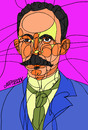 Cartoon: Cuban poet (small) by omar seddek mostafa tagged cuban,poet