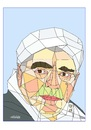 Cartoon: Egyptian actor (small) by omar seddek mostafa tagged egyptian,actor