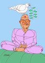 Cartoon: Yoga (small) by omar seddek mostafa tagged yoga