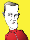 Cartoon: michael schumacher (small) by wolfi tagged schumacher,schumi,f1,comeback,caricature,germany