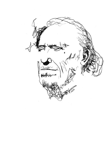 Cartoon: Bukowski (medium) by cosmo9 tagged charles,bukowski