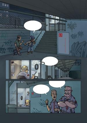 Cartoon: La Troupe2 Pag1Chap1 (medium) by Aleix tagged manga,graffiti,aleix,comic,la,troupe,panini,montana,colors