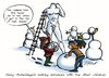 Cartoon: Young Michelangelo (small) by toonerman tagged michelangelo,artist,snowman,snow,winter,child,children,play,cartoon,cold,frozen
