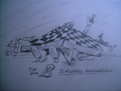 Cartoon: Schweres Zugunglück (medium) by timfuzius tagged chess,schach,zugunglück