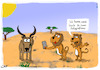 Cartoon: Safari Essens Foto (small) by Grikewilli tagged safari,lion,löwe,antilope,handy,essens,post,instagram,sozialmedia,foto,food,smartphone,wüste
